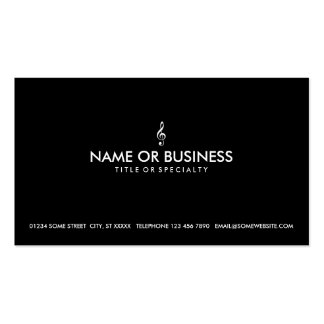 simple treble clef pack of standard business cards
