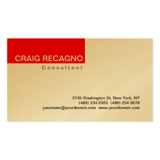 Simple Trendy Cute Gold Red Business Card