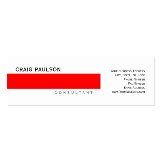 Simple Trendy Cute Plain Consultant Business Card