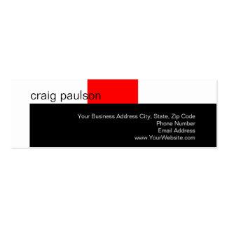 Simple Trendy Cute Plain Skinny Business Card