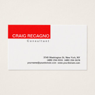 Simple Trendy Cute Red Business Card
