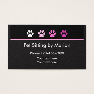 Simple Trendy Pet Sitter Businesscards Business Card