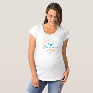 Simple Tropical Summer Vacation Maternity Shirt