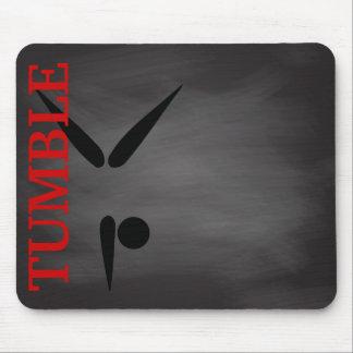 Simple Tumbler | Gymnast Chalkboard Gymnastics Mouse Pad