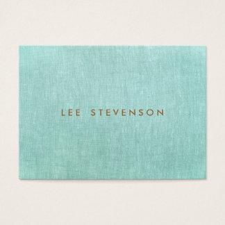 Simple, Turquoise Blue, Linen Look, Minimalist