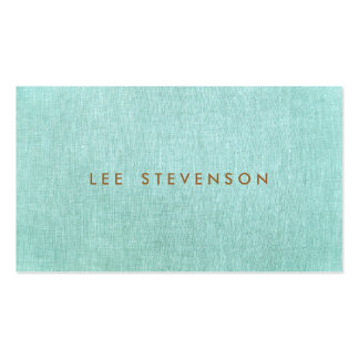 Simple, Turquoise Blue, Stylish Minimalist Pack Of Standard Business Cards