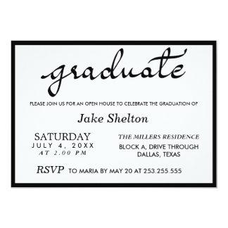 Simple Typography Open House Graduation 13 Cm X 18 Cm Invitation Card