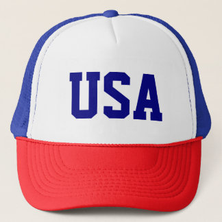 Simple USA United States of America Word Letters Trucker Hat