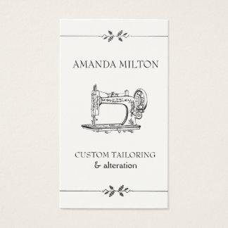 Simple Vintage Elegant Seamtress Fashion Sewing Business Card