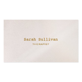 Simple Warm White Elegant Professional Pack Of Standard Business Cards