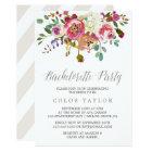 Simple Watercolor Bouquet Bachelorette Party Card