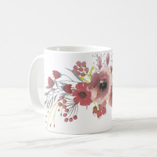 Simple Watercolor Floral Mug