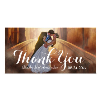 Simple Wedding Big Thank You Photo Card