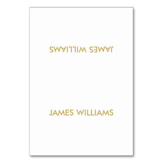 Simple Wedding Place Cards Gold And White