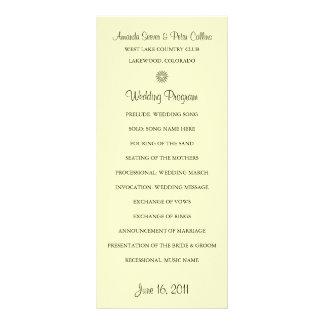 Simple Wedding Programs (Cream) Rack Card
