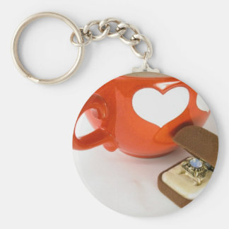 Simple Wedding Proposal Basic Round Button Key Ring