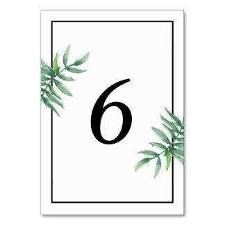 Simple Wedding Table Number Card Table Cards