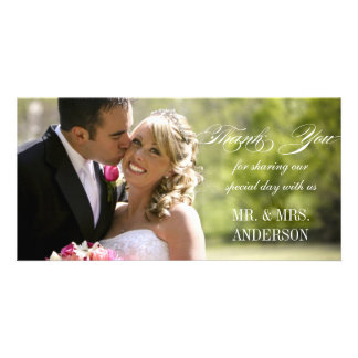 Simple Wedding Thank You Personalized Photo Card