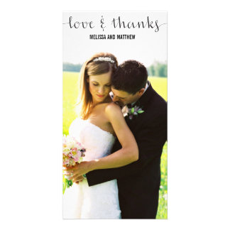 Simple | Wedding Thank You Photo Card Template