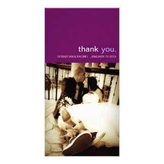 SIMPLE WEDDING THANK YOU PHOTO CARD VERTICAL