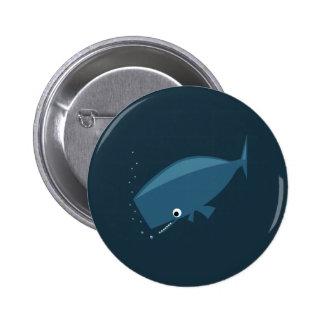 Simple Whale 6 Cm Round Badge