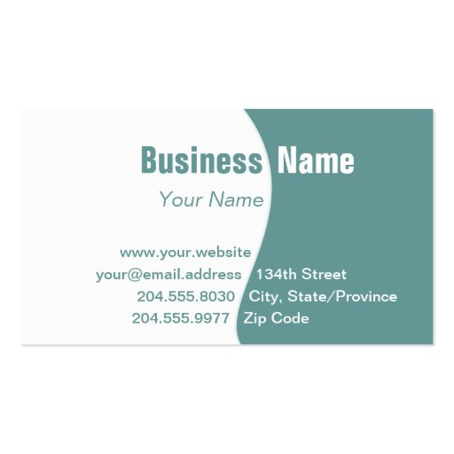 Simple White Changeable Color Curve Business Card
