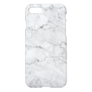Simple White & Gray Faux Marble iPhone 8/7 Case