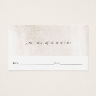 Simple White Marble Salon Spa Appointment Reminder Business Card