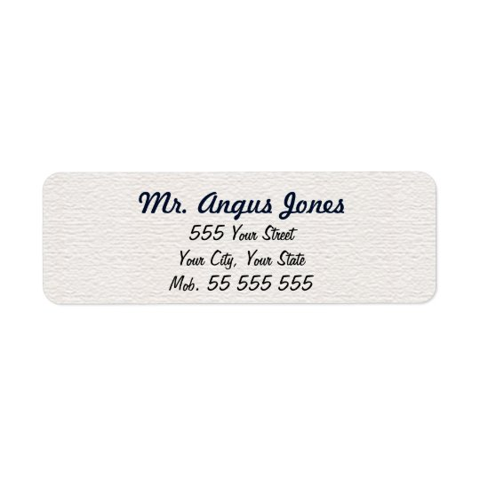 Simple White Structure Blue Name Return Address Label