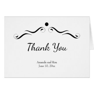 Simple White Thank You Wedding Card