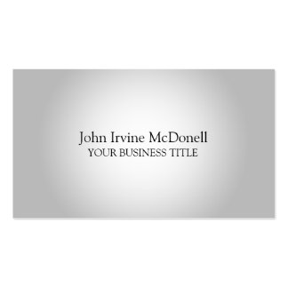 Simple White with Gradient Minimalist Pack Of Standard Business Cards