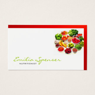 Simple White With Red Border Healthy Life/ Card