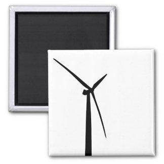 Simple wind turbine green energy silhouette magnet
