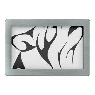 Simple Wolf Howl Rectangular Belt Buckle