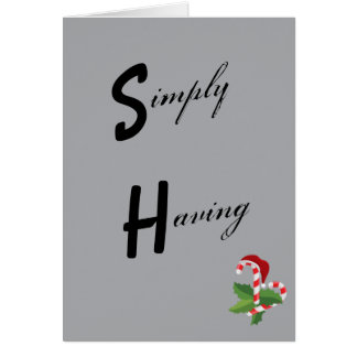 Simple Wonderful Christmas Time Gray Candy Cane Card