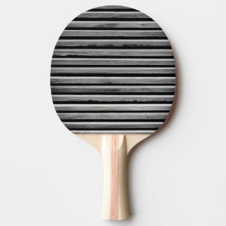 Simple Wood Stripe Pattern Ping Pong Paddle