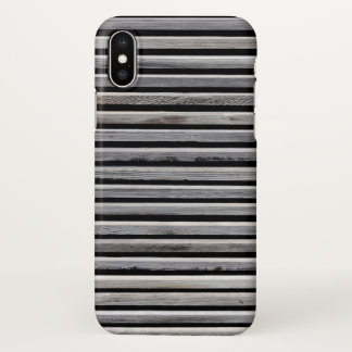Simple Wooden Stripes iPhone X Case