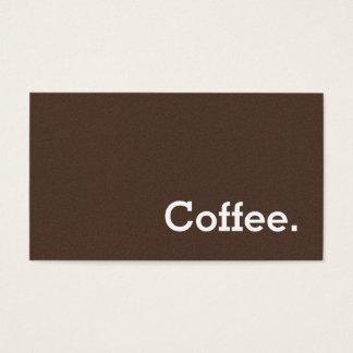 Simple Word Dark Loyalty Coffee Punch-Card Brown