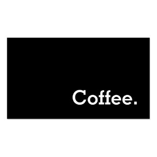 Simple Word Dark Loyalty Coffee Punch-Card Pack Of Standard Business Cards