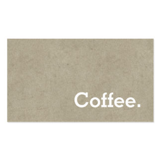 Simple Word Dark Loyalty Coffee PunchCard Bone Business Card