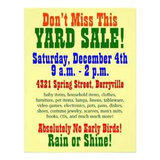 Simple Yard Sale Flyer