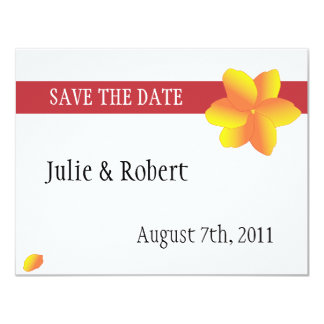 Simple Yellow Flower Illustrated Save the Date 11 Cm X 14 Cm Invitation Card