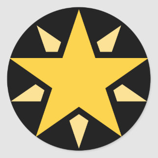 Simple Yellow Star Round Sticker