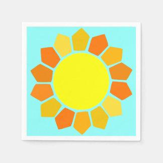 Simple Yellow Sun Disposable Serviette