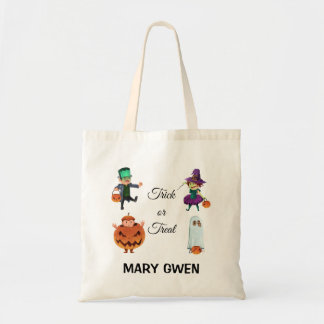 Simple yet Adorable Trick or Treat | Tote Bag