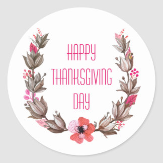 Simple yet Elegant Happy Thanksgiving Sticker Seal