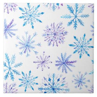 Simple yet Elegant Snowflakes | Ceramic Tiles
