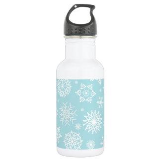 Simple yet Elegant Snowflakes Water Bottle