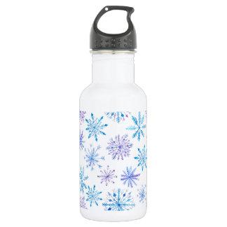 Simple yet Elegant Snowflakes | Water Bottle
