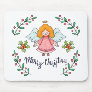 Simple yet Lovely Christmas Angel | Mousepad
